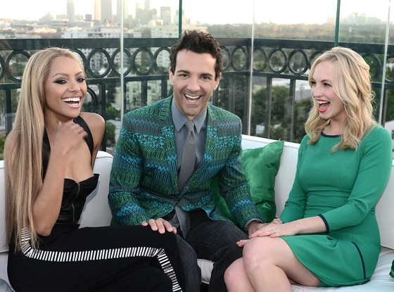 Kat Graham, George Kotsiopoulos and Candice Accola