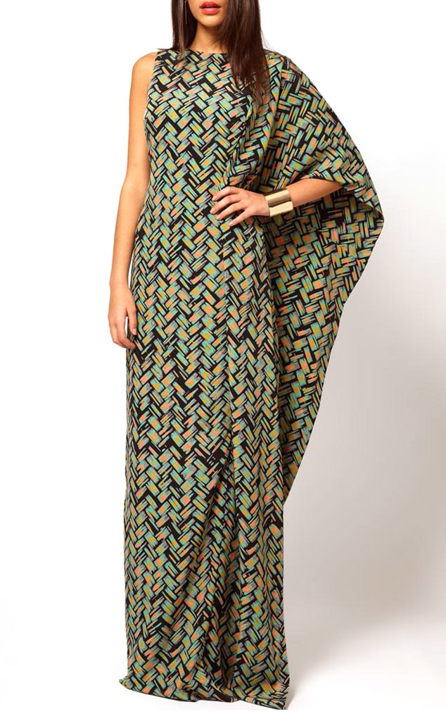 Aqua Brill Printed Maxi Dress From Rachel Zoe 39 S Maternity Style Chic Must Haves For The