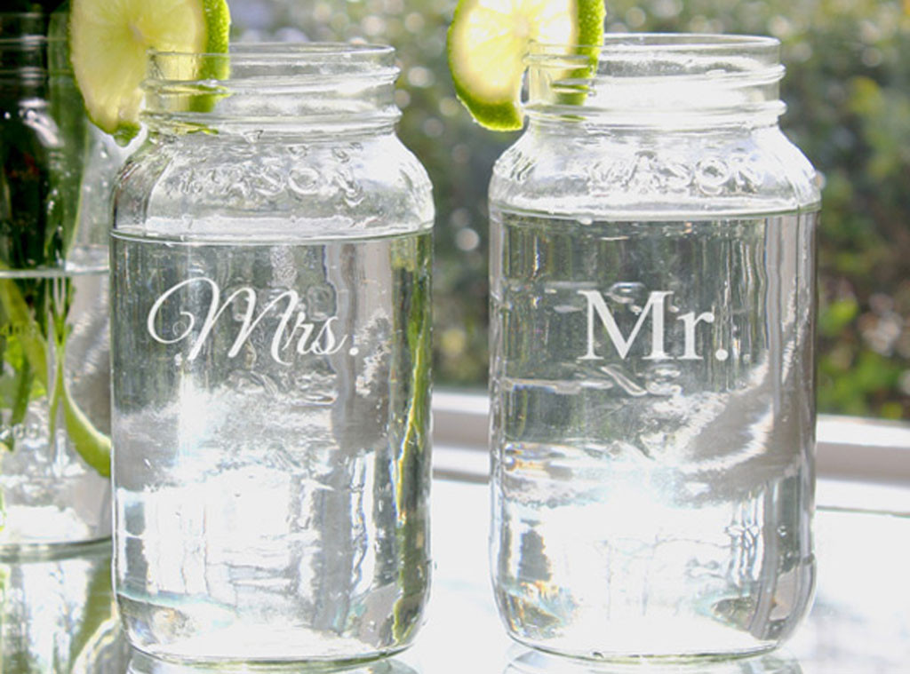 ... and Mrs. Bell Jar Set from Wedding Gift Guide USD50 and Under E! News