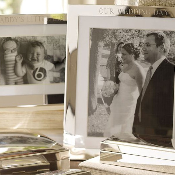 Pottery Barn Silver Plated Engraved Frames From Wedding