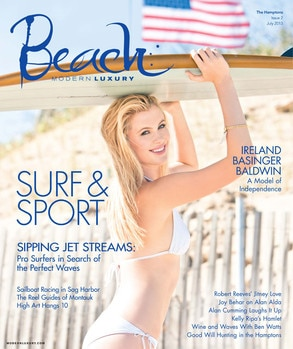 Ireland Baldwin, Beach Magazine Cover