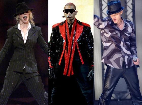 Britney Spears, Chris Brown, Justin Timberlake, Michael Jackson