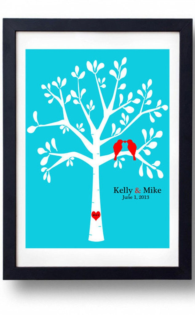 ... Tree Wedding Date Art from Wedding Gift Guide USD50 and Under E! News