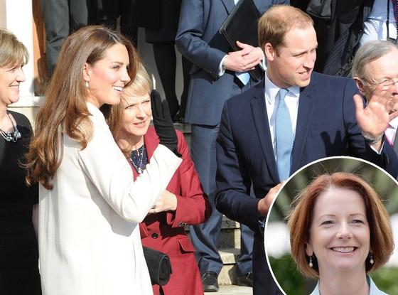 Prince William, Julia Gillard, Kate Middleton Catherine, Duchess of Cambridge