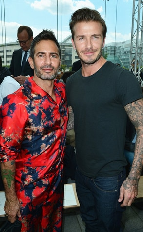 Marc Jacobs, David Beckham