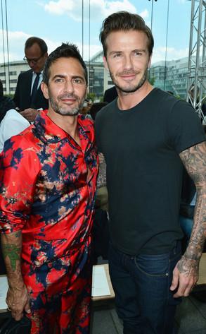 Marc Jacobs, David Beckham