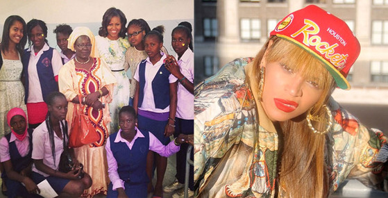 Michelle Obama, Beyonce, Instagram