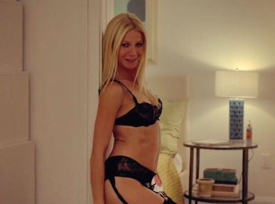 Gwyneth Paltrow Strips To Lingerie Gives Lap Dance To