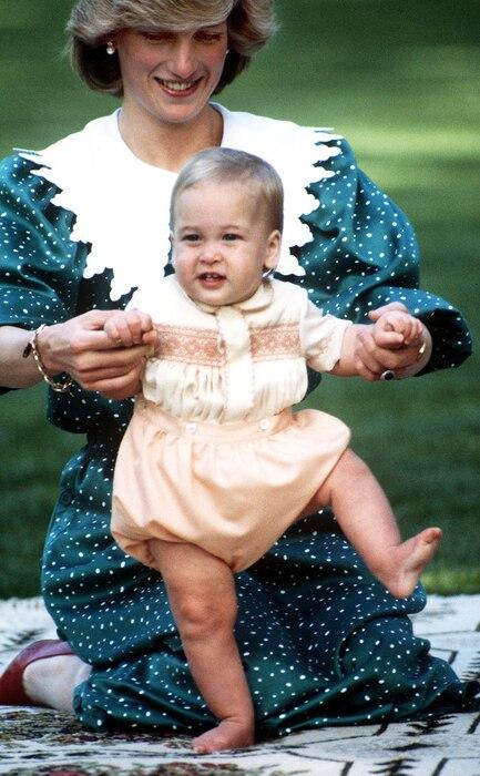 Princess Diana, Prince William, 1983