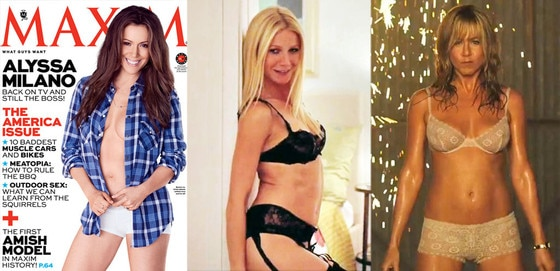 Alyssa Milano, Maxim Magazine Cover, Gwyneth Paltrow, Thanks For Sharing, Jennifer Aniston, We Are the Millers