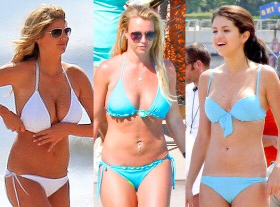 Kate Upton, Britney Spears, Selena Gomez, Bikini