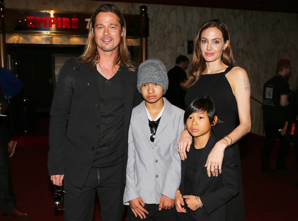 Brad Pitt, Angelina Jolie, Pax, Maddox