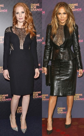 Jessica Chastain, Jennifer Lopez, Chime for Change