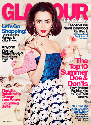 Lily Collins, Glamour Magazine