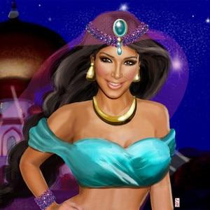 Kim Kardashian, Princess Jasmine, Instagram