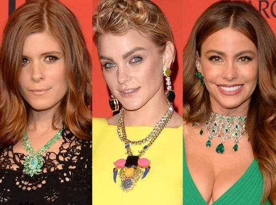 Kate Mara, Jessica Stam, Sofia Vergara, CFDA Fashion Awards, Necklaces