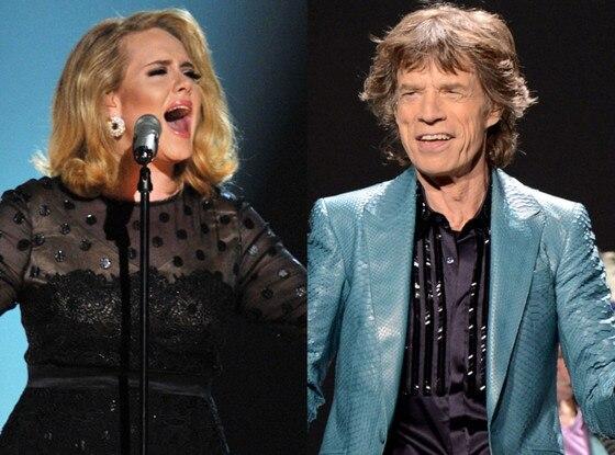 Adele, Mick Jagger