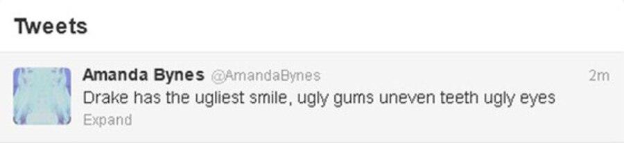 Amanda Bynes, Drake, Tweet