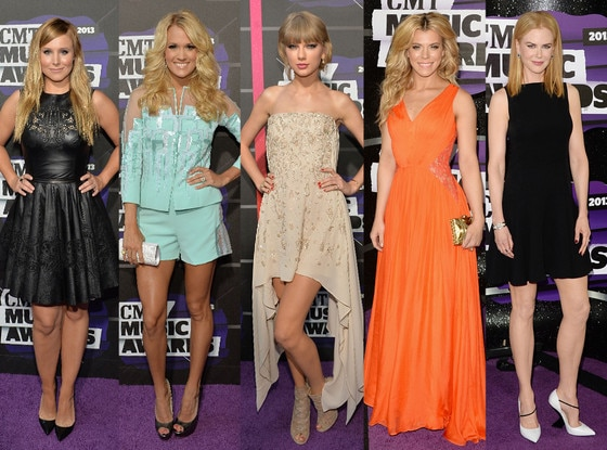 Kristen Bell, Carrie Underwood, Taylor Swift, Kimberly Perry, Nicole Kidman
