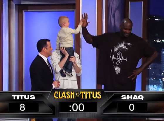 Shaquille o 39 neal blanked by 2 year old titus ashby in for Where does shaq live