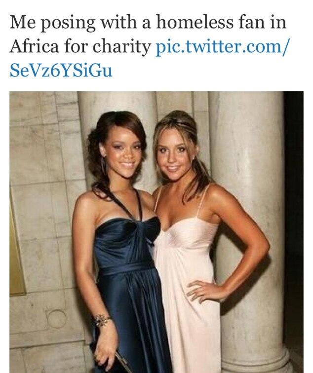 Amanda Bynes, Rihanna, Tweet