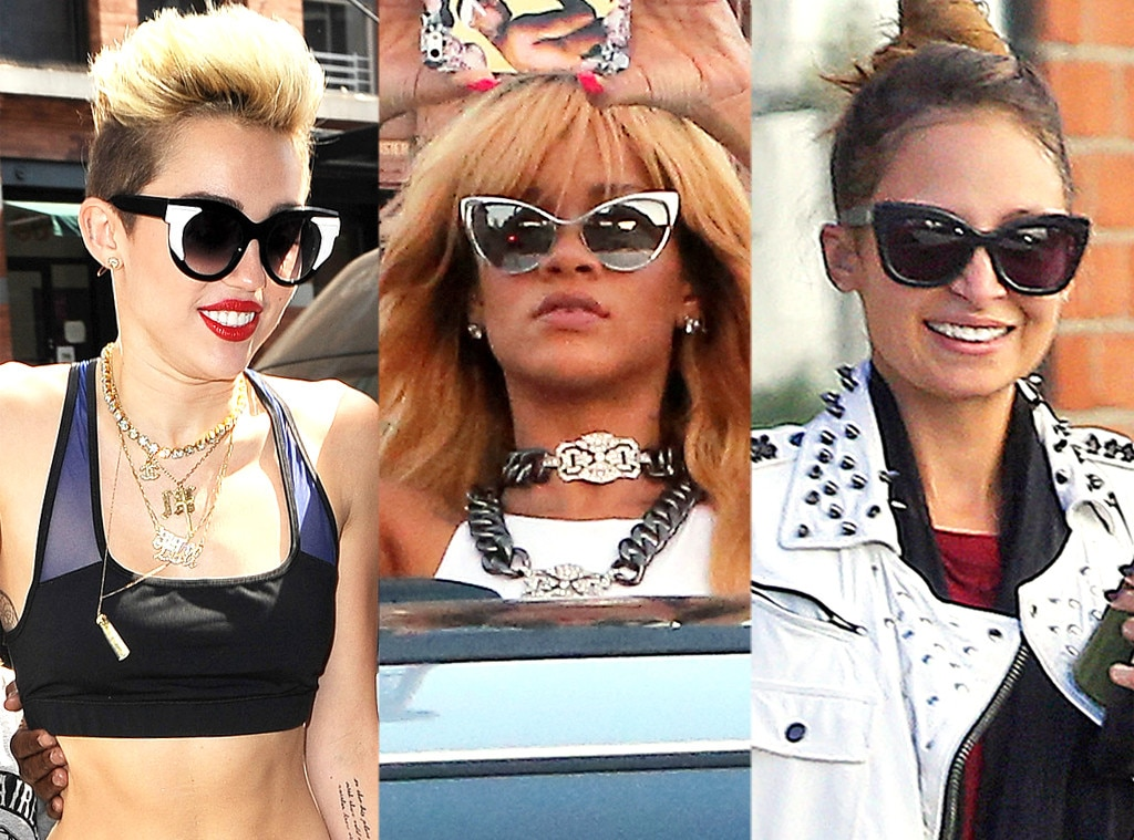 Sunglasses Trend  yellow frames from stars favorite sunglasses trends