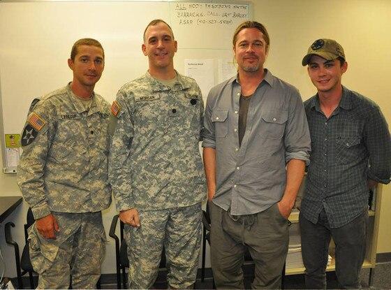 Brad Pitt, Shia LaBeouf, Logan Lerman, Fury