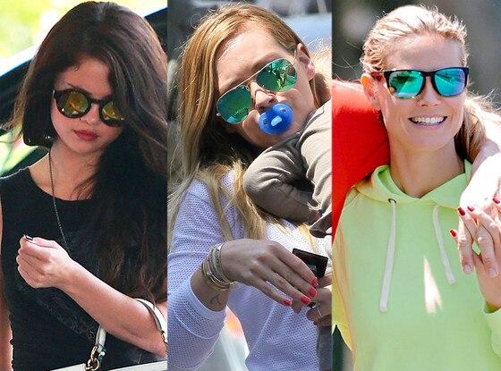 Hilary Duff, Selena Gomez, Heidi Klum, Sunglasses Trends
