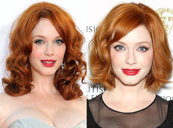 Christina Hendricks, Hair