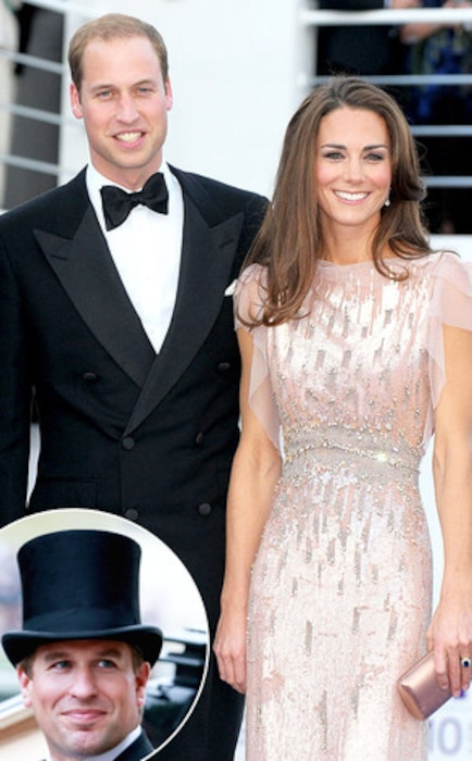 Peter Phillips, Prince William, Kate Middleton
