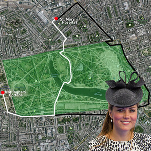 Royal baby road map inside kate middleton s route from kensington