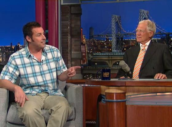 Adam Sandler, Letterman