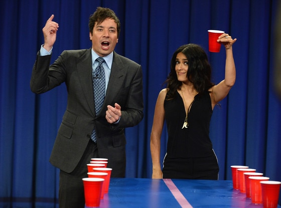 Jimmy Fallon, Salma Hayek, Late Night with Jimmy Fallon