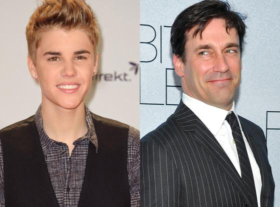 Justin Bieber, Jon Hamm