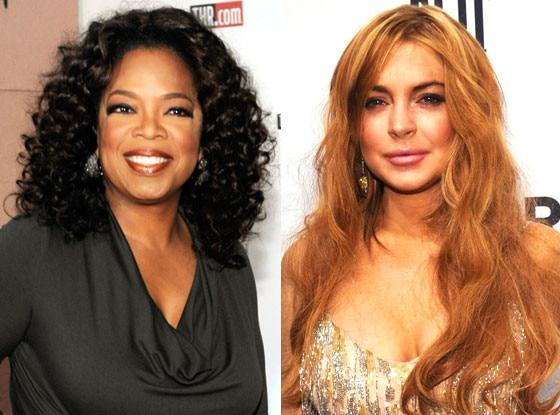 Lindsay Lohan, Oprah Winfrey