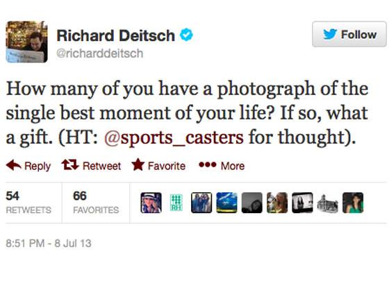 best moment of your life, Richard Deitsch Twitter