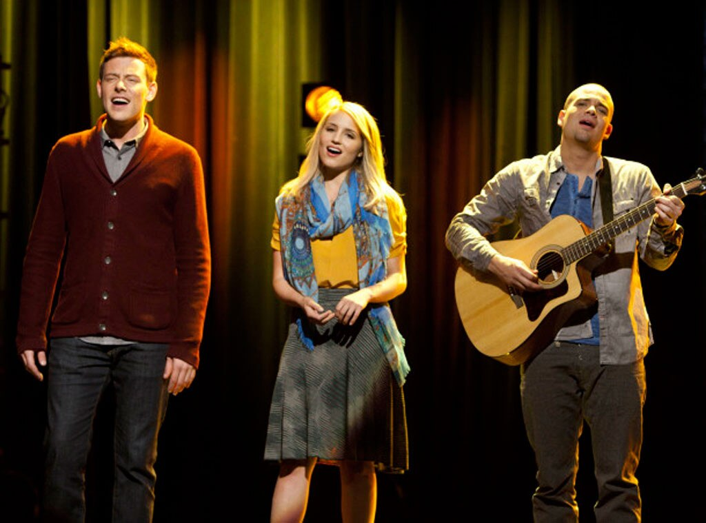 GLEE, Cory Monteith, Dianna Agron, Mark Salling
