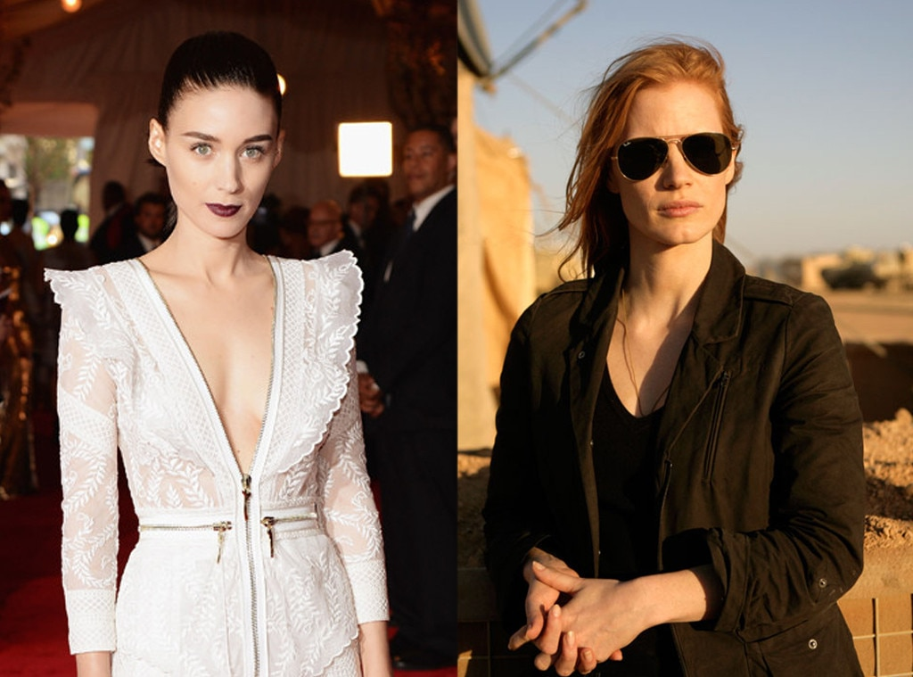 Rooney Mara, Jessica Chastain, Roles Recast