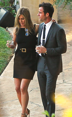 Jennifer Aniston, Justin Theroux, Kimmel Wedding