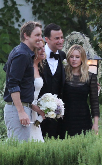 Dax Shepard and Kristen Bell, Jimmy Kimmel, Molly McNearney, Kimmel Wedding