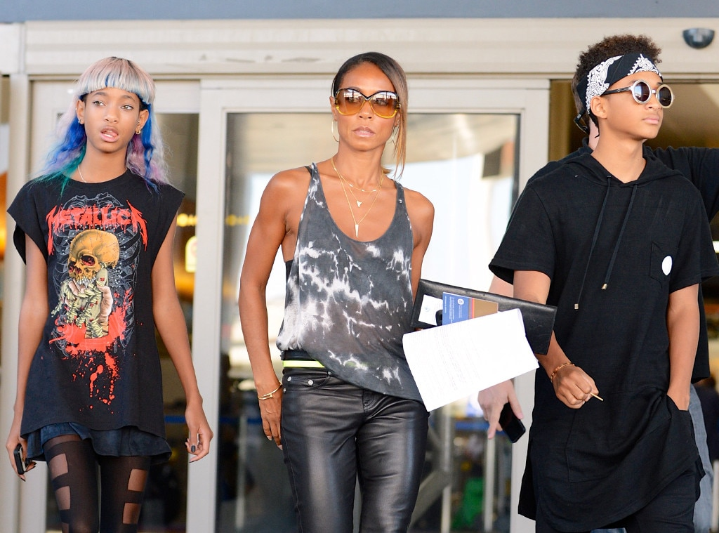 Jada Pinkett Smith, Willow Smith, Jaden Smith