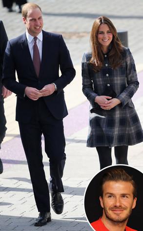 Kate Middleton, Prince William, David Beckham
