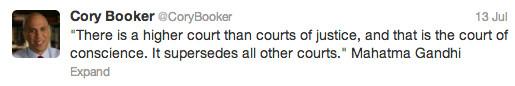 Trayvon Martin tweets - Cory Booker