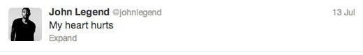 Trayvon Martin tweets - John Legend