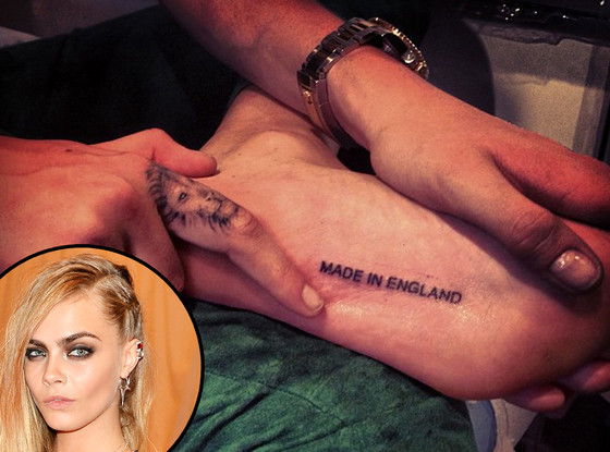 Cara Delevigne, Tattoo, Instagram