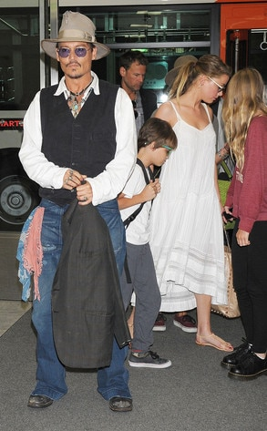 Amber Heard, Johnny Depp, Lily-Rose Depp, Jack Depp
