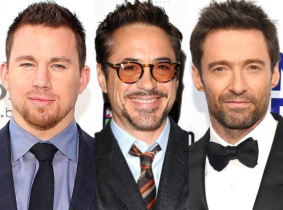 Channing Tatum, Robert Downey Jr., Hugh Jackman
