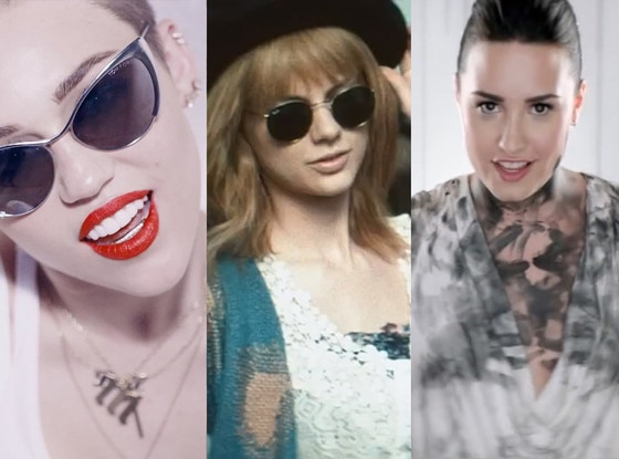 Miley Cyrus, Taylor Swift, Demi Lovato