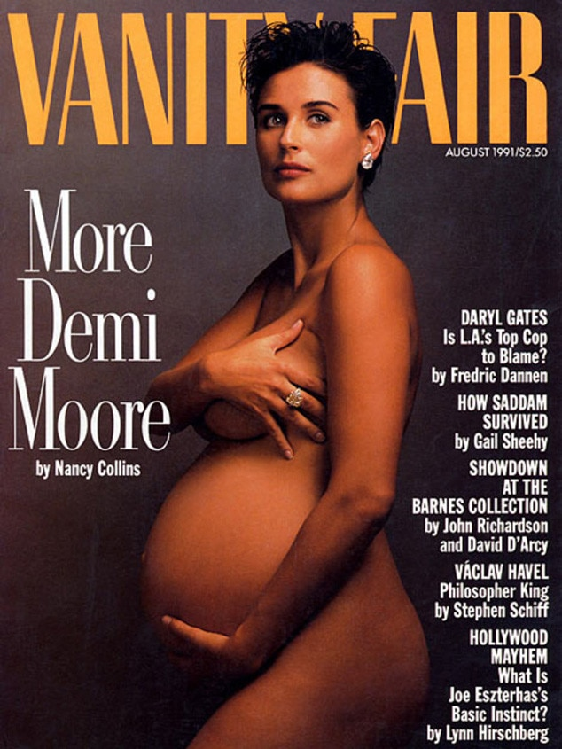 Demi Moore, Vanity Fair, Magazine, Iconic Celeb Photos