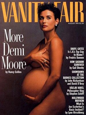 Demi Moore, Vanity Fair, Magazine, Iconic Celeb Photos